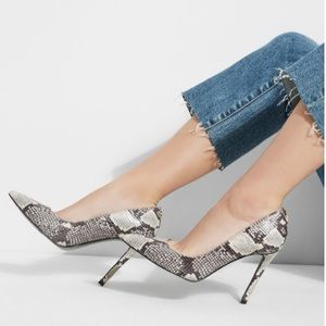 Guess Snake Print Leather Stiletto Heels